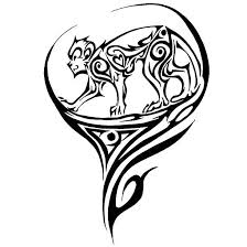 tribal monkey tattoo design