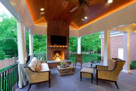 Outdoor Fireplace Deck An Outdoor Fireplace Is All You Need To Keep Summer Going Huffpost