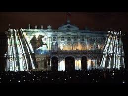 3d light show spectacular 3d light show staged in st petersburg youtube