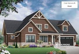 Transitional Style House House Plan W3507 V3 Detail From Drummondhouseplans Com