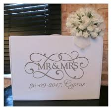wedding dress travel box wedding dress travel box personalised mr mrs swirl