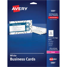 Avery Template Business Card Avery 5881 Microperforated Color Laser Business Cards 2