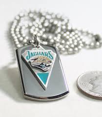 steel dog tag necklace images Nfl jaguars stainless steel dog tag necklace 3d ball chain JPG