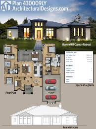 Modern Floor Plans Plan 430006ly 4 Bed Modern House Plan With Upstairs In Law Suite