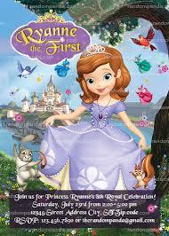 invitation princess sofia invite sofia birthday