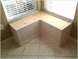 Corner Storage Bench Window Seat Benches Charming Light Pdf Plans Corner Storage