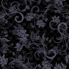 seamless antique pattern black victorian style wallpaper vector