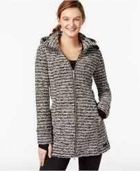 calvin klein performance variegated hooded jacket in black lyst