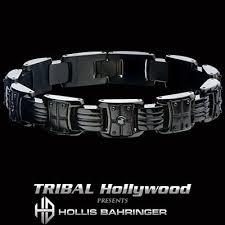 mens black steel bracelet images Hollis bahringer black armor mens black steel bracelet jpg