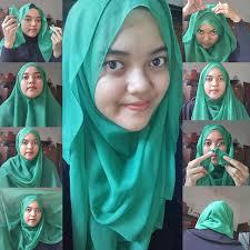 tutorial memakai jilbab paris yang simple fasion cara memakai jilbab paris polos yang menarik