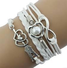 anchor bracelet women images Handmade vintage bird anchor bracelets wrap leather bracelet charm jpg
