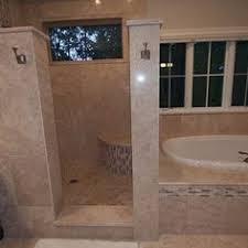 walk in shower out of travertine my work pinterest