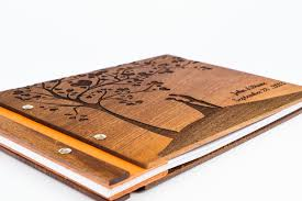 personalized photo albums custom wood wedding photo album guestbook scrapbook waldengoods