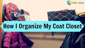 how i organize my hall closet coat closet youtube