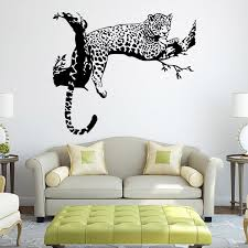 living room wall stickers tiger pattern creative personality wall stickers living room