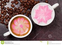 Beautiful Coffee Two Cups Of Cappuccino Stock Photography Image 13964082