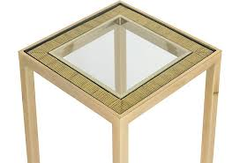 Brass Accent Table Rattan Brass And Glass Table Janney U0027s Collection