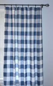 Navy Blue Plaid Curtains 1 Pair Ready To Ship Navy Blue And White Buffalo Plaid Curtains