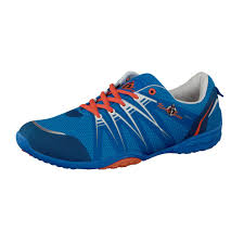 sam men barefoot running shoes in blue orange