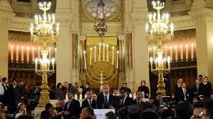 netanyahu in paris shul thanks france for u0027firm u0027 stance on anti