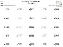 answers ending with zero 2 division 4th 5th grade worksheet