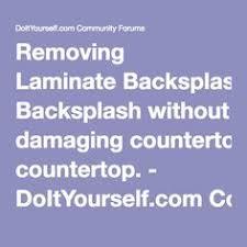 Do It Yourself Backsplash Ideas by How To Cut Off A Laminate Formed Backsplash Kitchens Laminate