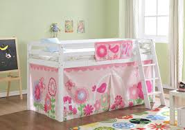 Bunk Bed Tent Only Cabin Bed Mid Sleeper In White With Tent Floral 578wg Floral