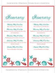 destination wedding itinerary template wedding itinerary template wedding planner coral teal