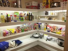 led kitchen strip lights led strip lighting in the pantry home design ideas interiors