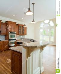 Model Home Interior Model Luxury Home Interior Kitchen Counter Stock Image Image