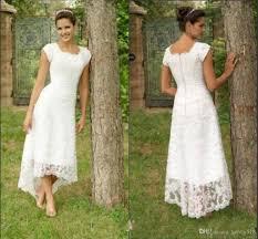 discount vintage short hi lo wedding dresses tea length 2016 full