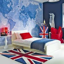 union jack floor carpet for small bedroom ideas with navy blue