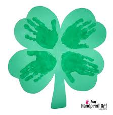 handprint 4 leaf clover st patrick u0027s day craft fun handprint art