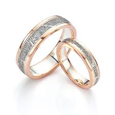 fingerprint wedding bands fingerprint wedding rings unique wedding rings in 5 easy steps