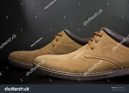 mens casual brown leather chukka shoes stock photo 440605738