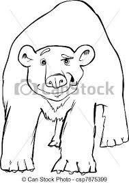 eps vectors polar bear coloring cartoon illustration