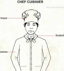 blouse de cuisine chef cuisinier personne responsable du personnel et des activités
