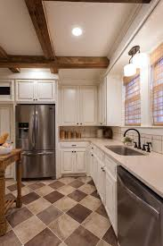 white kitchen cabinets with tile floor white country kitchen with brown tile floors hgtv