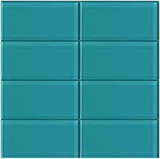 Teal Tile Backsplash by Lush Peacock 3x6 Glass Subway Tile Lush 3x6 Subway Tile