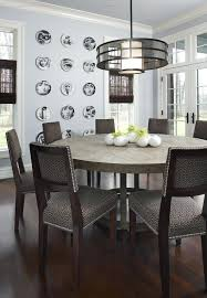 dining table rustic round dining table with lazy susan room and