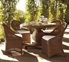 outdoor wicker dining table palmetto all weather wicker round pedestal dining table amp set