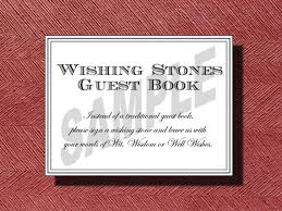 wishing stones wedding wedding wishing guest book sign wishing stones