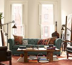 pottery barn chesterfield sofa teardrop medallion rug terra cotta pottery barn note its with