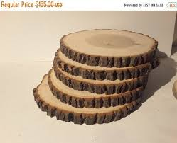 Rustic Wedding Decorations For Sale 19 Best Rustic Wedding Decor Wood Slice Center Pieced Cake Stand