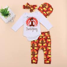 4pcs baby thanksgiving infant boy set