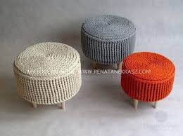 Knitted Ottoman Fascinating Knitted Pouf Ottoman Knit Pouf Knitted Ottoman World