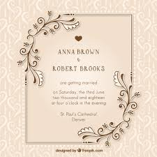free wedding cards wedding invitation vectors photos and psd files