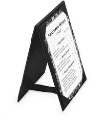 Table Tent Cards Leatherette A Frame Table Tents