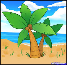 learn how to draw palm trees trees pop culture free step by