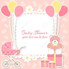 Invitation Cards Baby Shower Baby Shower Invitation Card Place For Text Greeting
